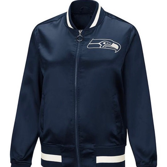 7a5716e7 Seattle Seahawks - NEW Touch Satin Bomber Jacket NWT